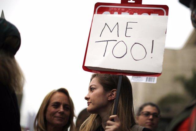 Mujeres en una protesta del movimiento #MeToo