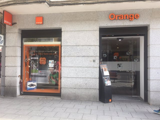 Orange, telefonía, sucursal, móvil