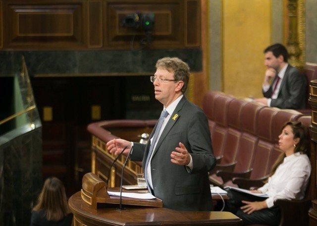 El diputado del PDeCAT Ferrán Bel, en el Pleno del Congreso
