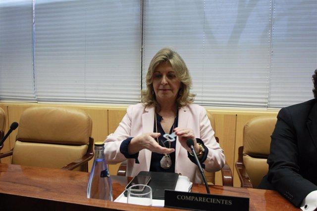 Engracia Hidalgo en la comisión contra la corrupción de la Asamblea de Madrid