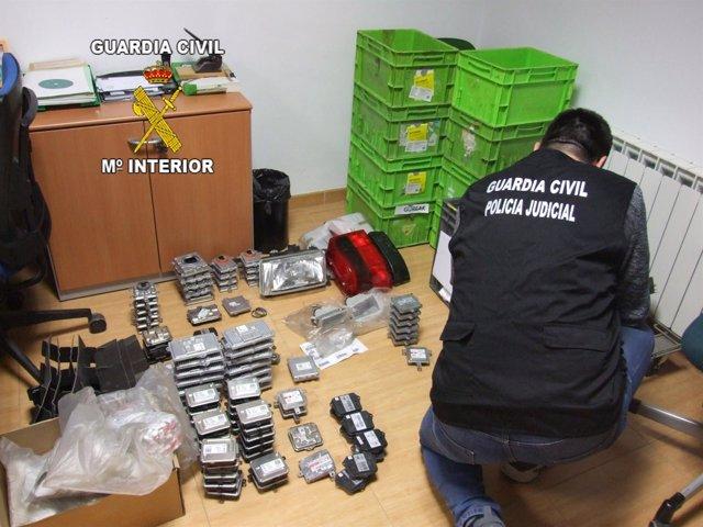 Material sustraído ya recuperado por la Guardia Civil