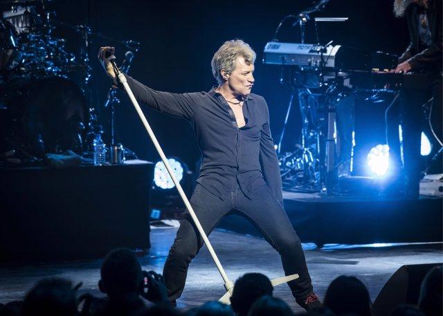 Jon Bon Jovi live on stage as Bon Jovi perform their new album 'This House Is No