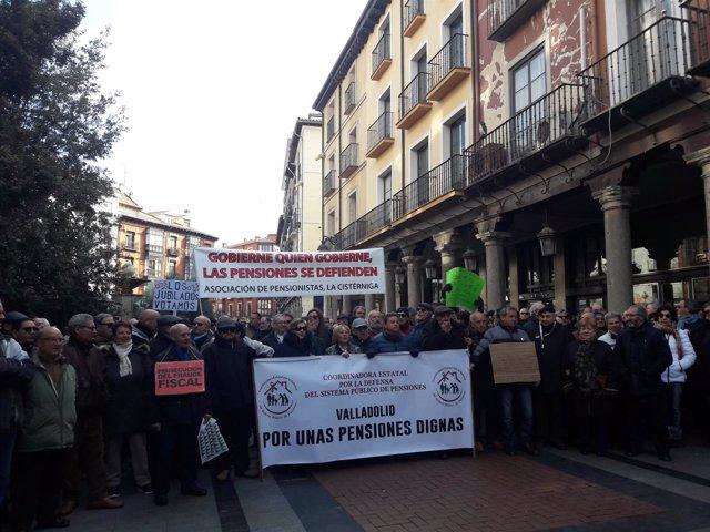 Valladolid.- Manifestación pensiones