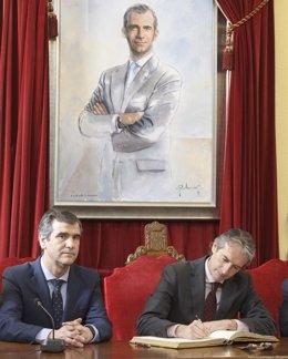 De la Serna y el alcalde de Guadalajara