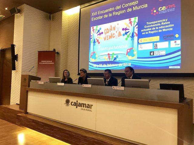 Noelia Arroyo participa en XVI Encuentro del Consejo Escolar de la Región