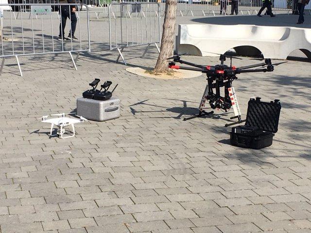 Drones de los Mossos (MWC)