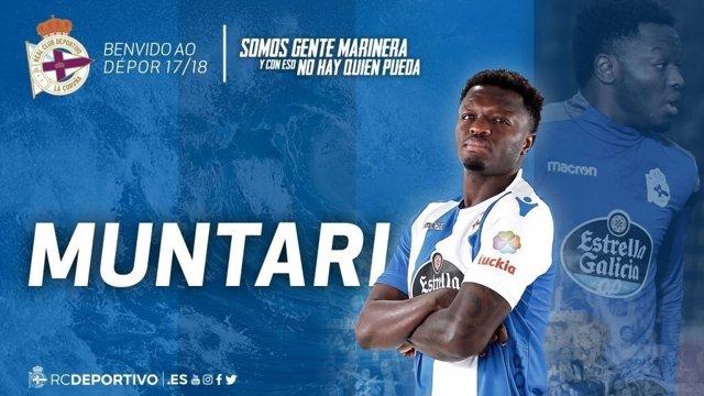 El Deportivo confirma el fichaje de Muntari hasta final de temporada