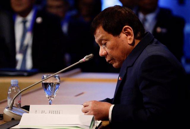 Foto de archivo del presidente filipino, Rodrigo Duterte