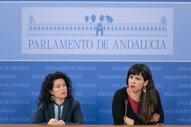 Maribel Mora y Teresa Rodríguez, en rueda de prensa