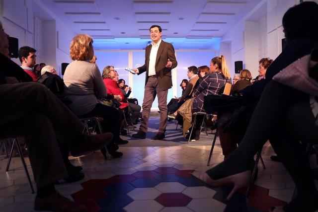 Juanma Moreno (PP-A) en un acto sobre igualdad