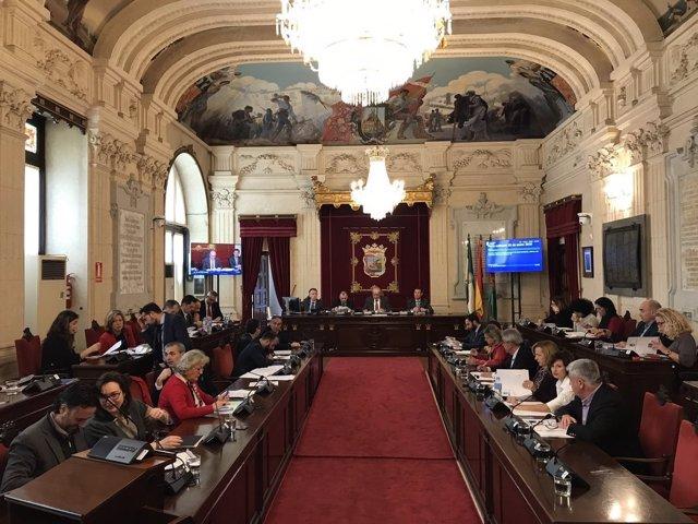 Pleno del Ayutamiento de Málaga. Enero 2018