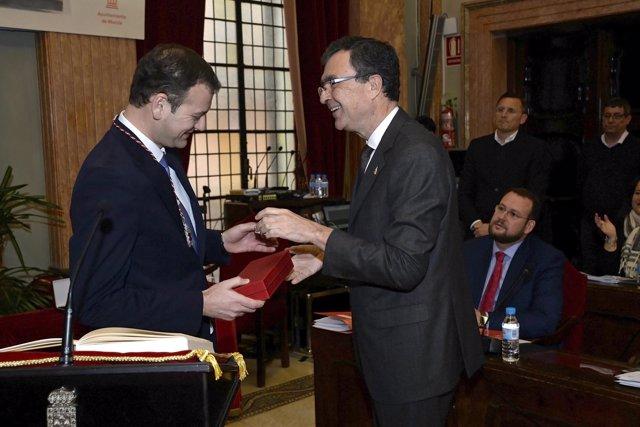 Toma de posesión Marco Antonio Fernández como concejal PP Murcia