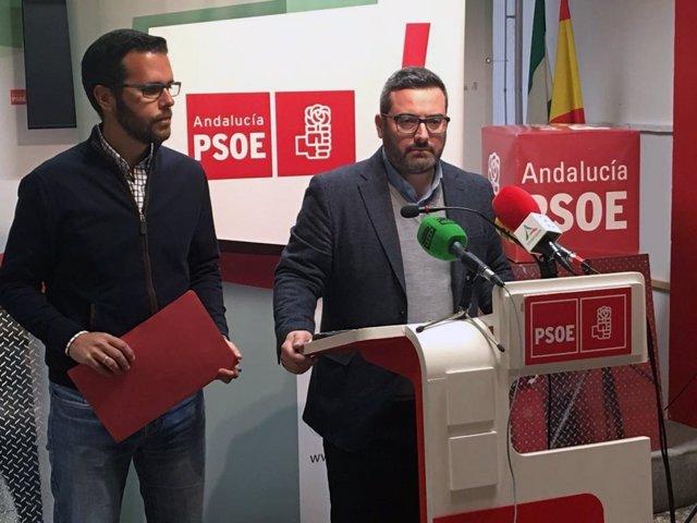 Manuel Chicón y Francisco Calderon en rueda de prensa