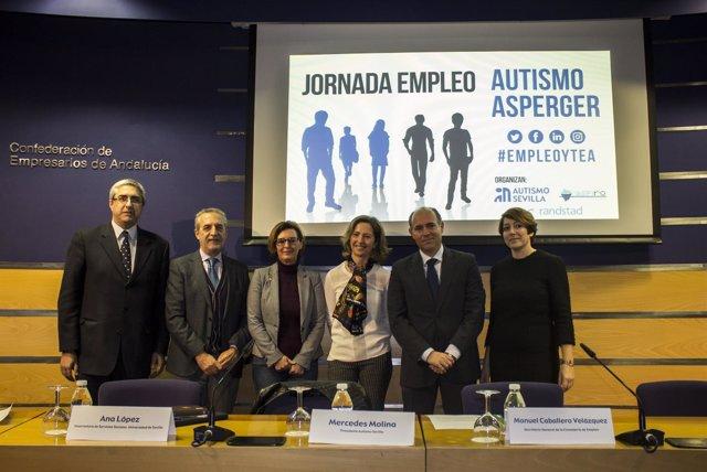 Jornada sobre empleo y autismo organizada por Autismo Sevilla.