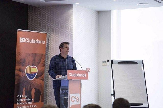 El secretario de Finanzas de Ciudadanos, Carlos Cuadrado