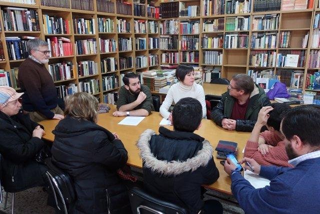 Ana Pontón en un acto en A Coruña