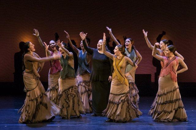 Un momento de la actuación de 'Yo, Carmen'