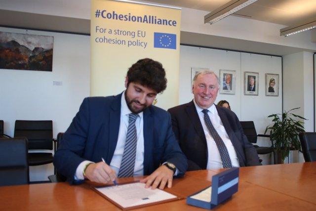 Foto/ Fernando López Miras Firma La Iniciativa 'Alia Nza Por La Cohesión' Junto
