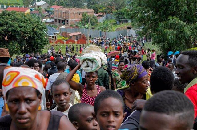 Refugiados congoleños protestan en Ruanda