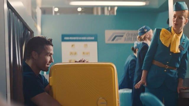 Imagen de Cristiano Ronaldo durante el anuncio