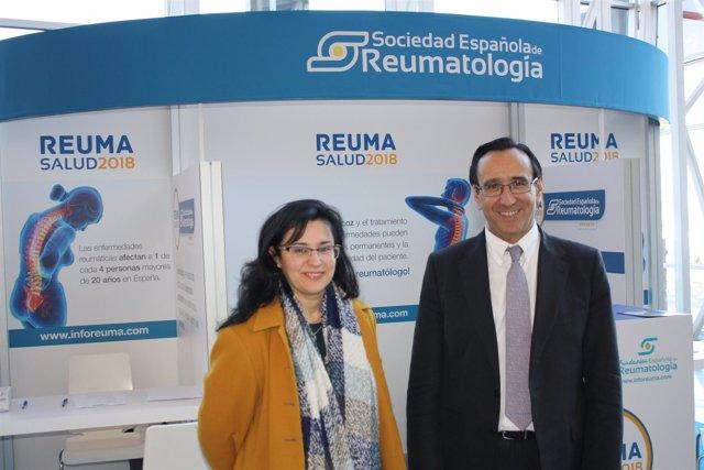 Dr. José Luis Andréu, presidente Sociedad Española de Reumatología (SER) y Dra.
