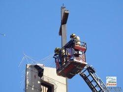 Mor una cigonya atrapada en les proteccions per evitar la construcció de nius a l'església de Gardeny de Lleida (ACN)