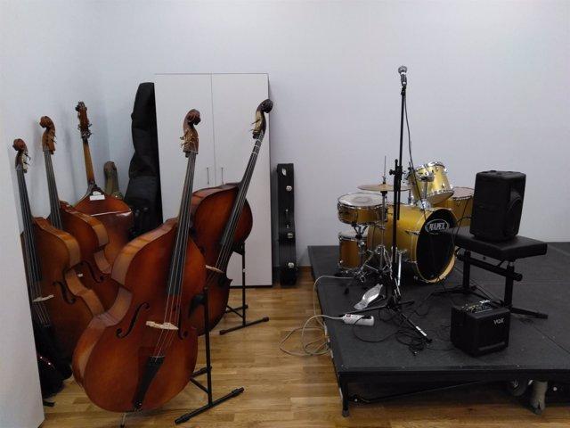 Instrumentos en la Escuela de Música 'María Rodrigo'