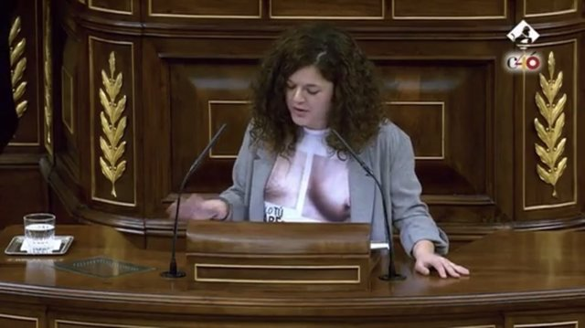 Sofía Castañón, diputada de Unidos Podemos