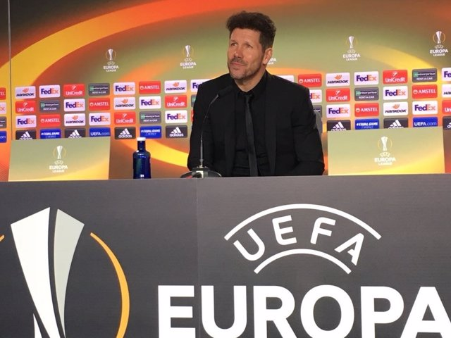 Diego Pablo Simeone en rueda de prensa Europa League