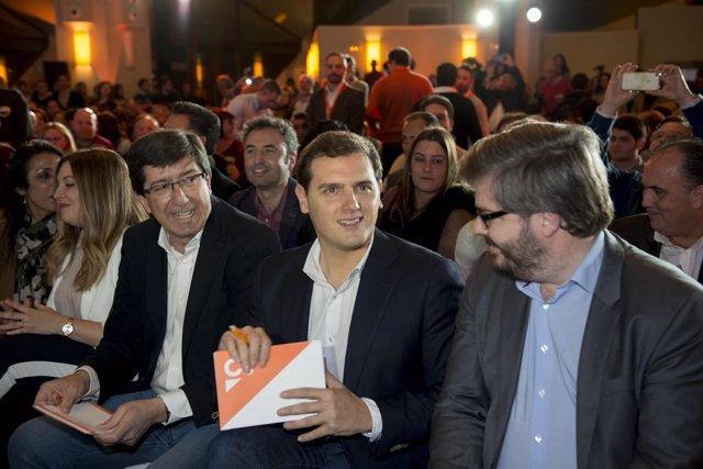 Albert Rivera y Juan Marín Rivera en el Encuentro ciudadano en Jaén