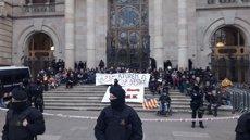12 detinguts en la concentració dels CDR davant el TSJC (Europa Press)