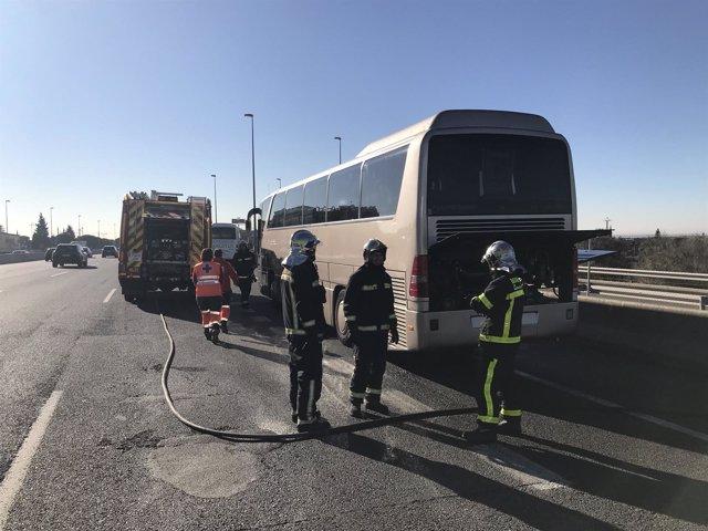 Incendio en autobús escolar de Las Rozas