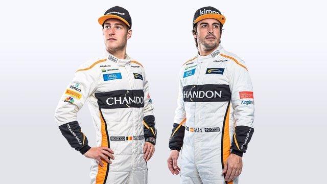 Stoffel Vandoorne y Fernando Alonso (McLaren)