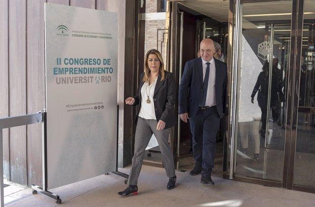 Susana Díaz junto al presidente de la Diputación de Córdoba