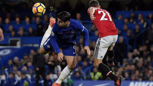 Morata en el Chelsea - Manchester United