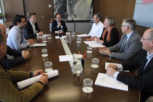 Reunión de la Conselleria y los impulsorers del proyecto