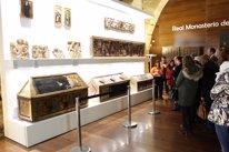 Algunas de las obras expuestas en el monasterio