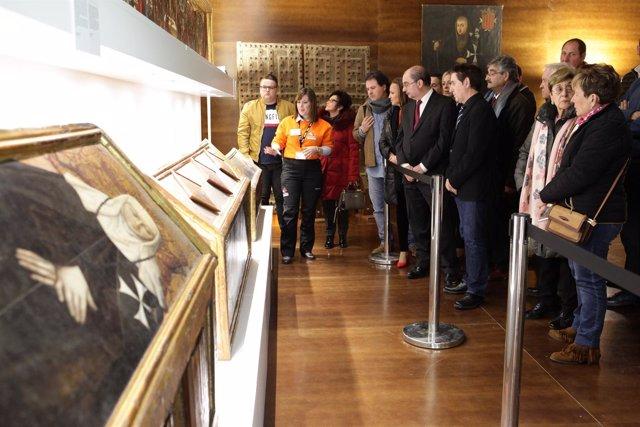 Lambán ha visitado esta tarde el Monasterio de Sijena