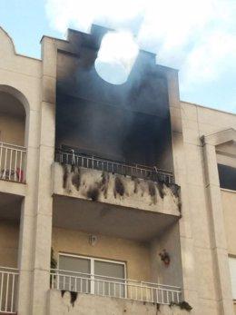 Incendio en la calle Reina Fabiola en que ha muerto un bebé