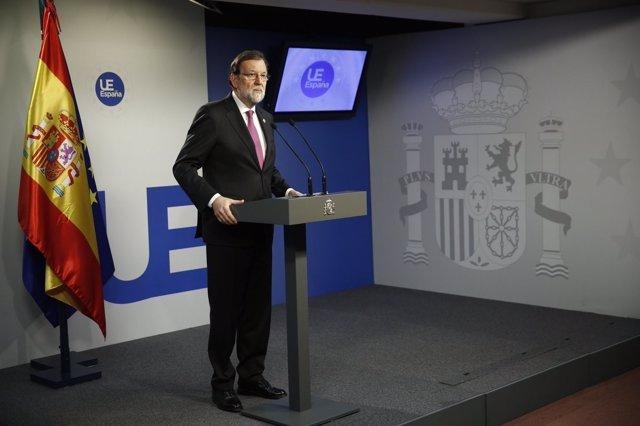 Rajoy, en rueda de prensa tras el Consejo Europeo