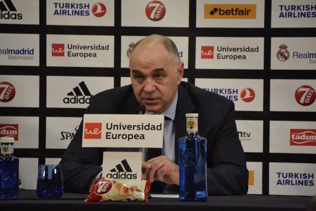 Pablo Laso tras la victoria del Real Madrid contra el Anadolu Efes