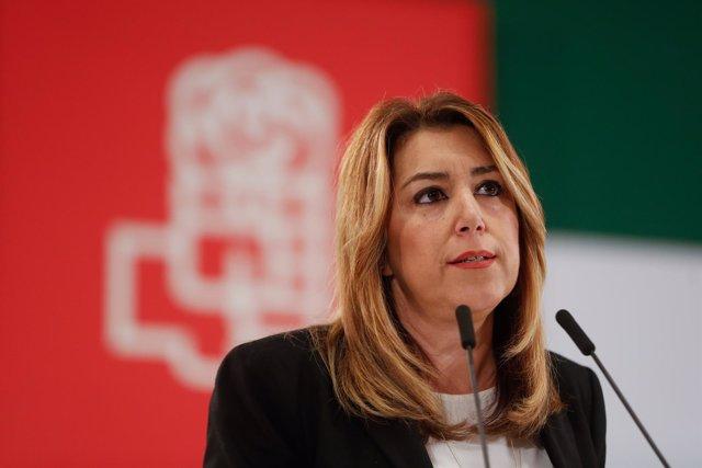 Susana Díaz, en su intervención en el Comité Director del PSOE-A
