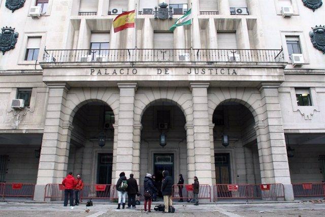 Los juzgados de Sevilla antes del inicio del juicio a 'El Cuco'
