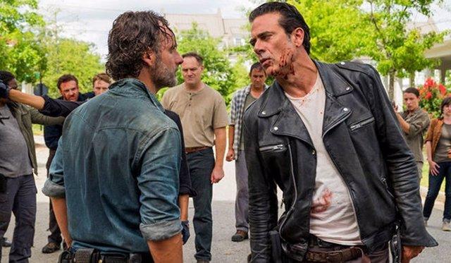Andrew Lincoln y  Jeffrey Dean Morgan en The Walking Dead