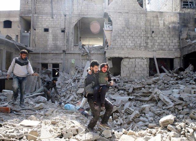 Bombardeos sobre Ghuta