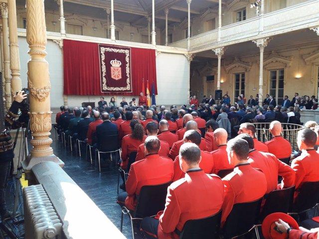 Acto central del Día de la Policía Foral.