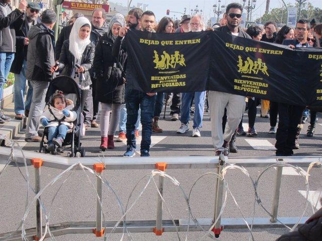 Manifestación Pasaje Seguro en Santander