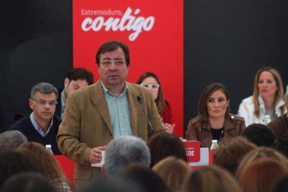 Vara asegura que el futuro de Extremadura pasa por crear 30.000 empleos