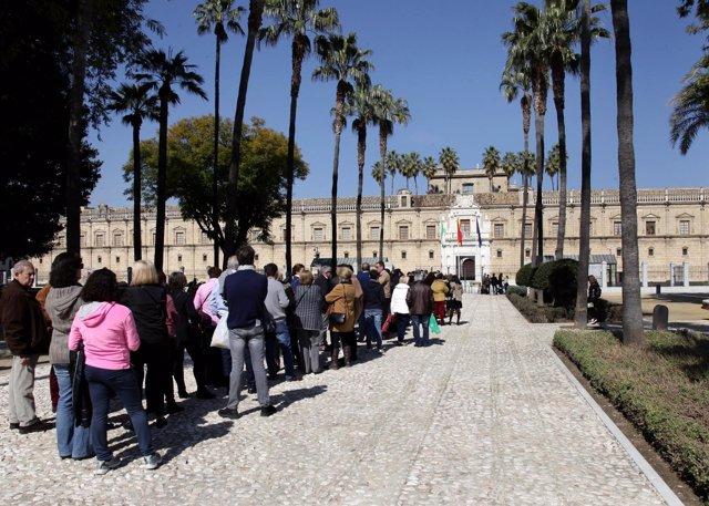 Jornada de puertas abiertas en el Parlamento andaluz