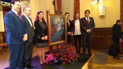 Un cuadro de Rosa Salinero sobre la Hermandad de las Penas ilustra el cartel de la Semana Santa de Ciudad Real 2018